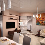 Объединенная кухня и гостиная