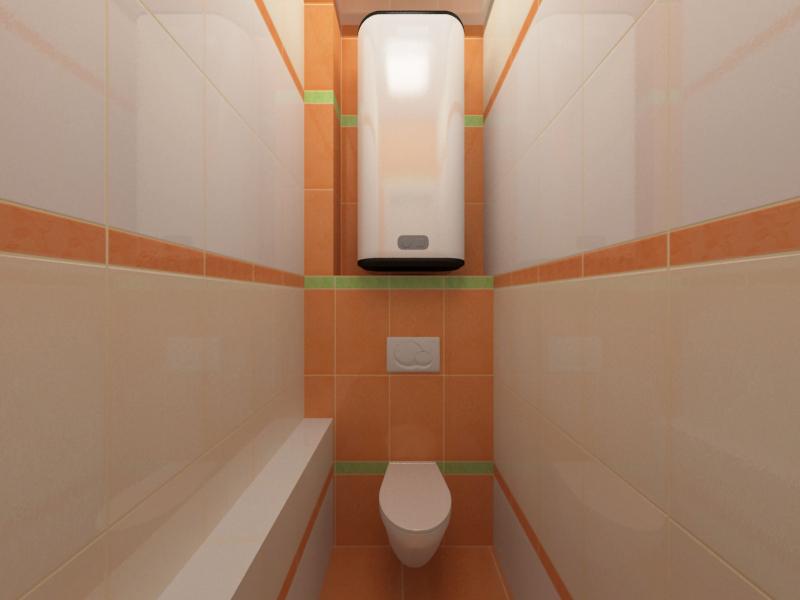 Интерьер туалета панельного дома