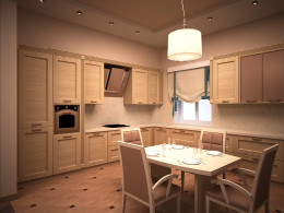 Объединенная кухня-гостиная