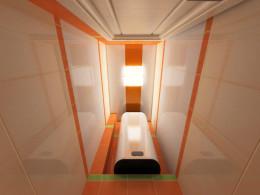 Оранжевый туалет в панельном доме